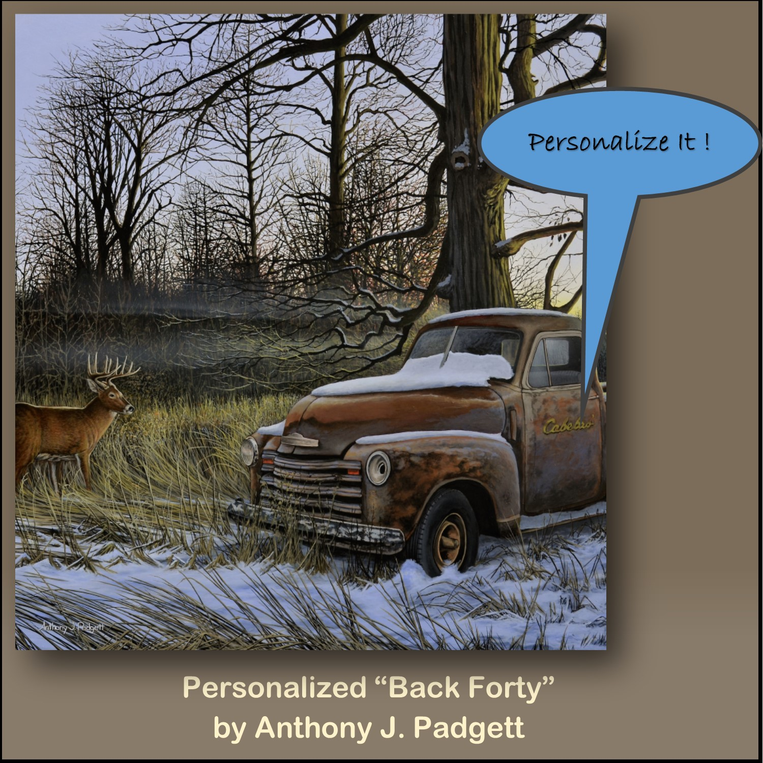 Personalized - Back Forty - truck