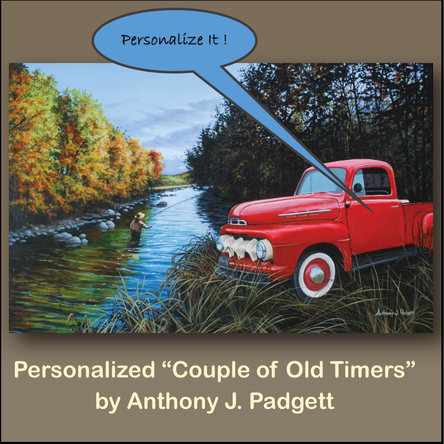 Personalized Couple of Old Timers - Truck