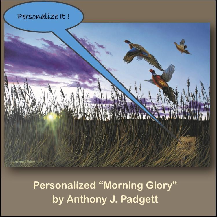 Personalized - Morning Glory - pheasant
