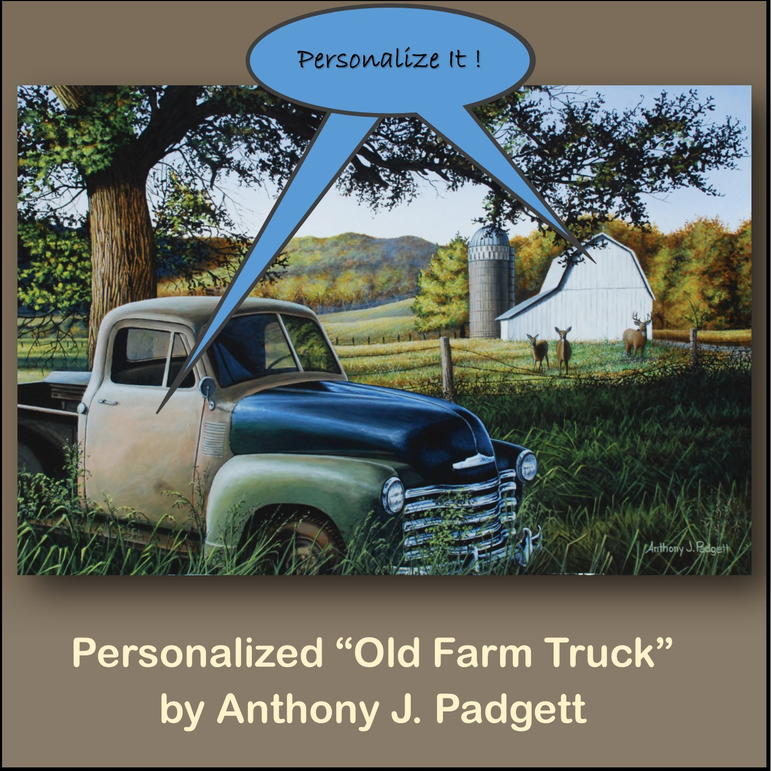 Personalized - Old Farm Truck