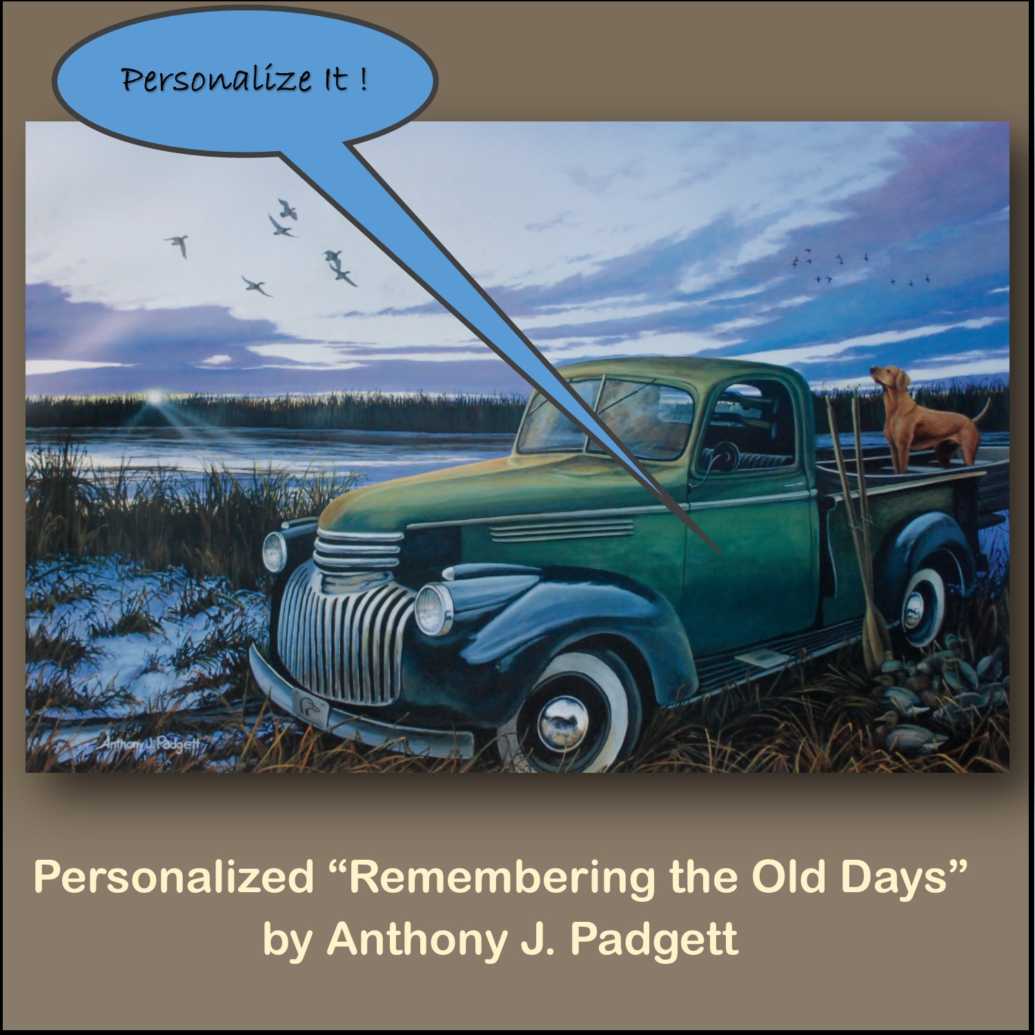 Personalized - Remembering the Old Days- Truck
