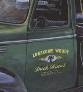 Remembering the old Days - truck door closeup