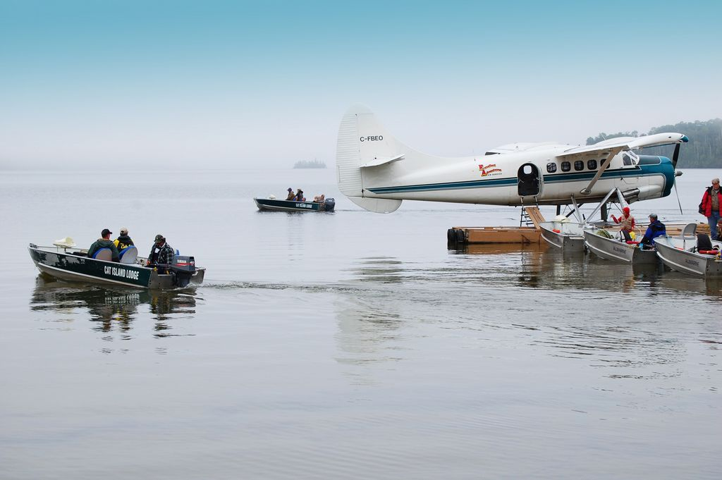 boats-leave-the-dock-on-remote-fly-in-lake